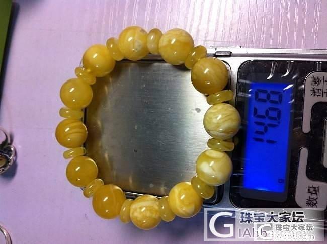 波罗的海蜜蜡手串14.68克3000元_有机宝石