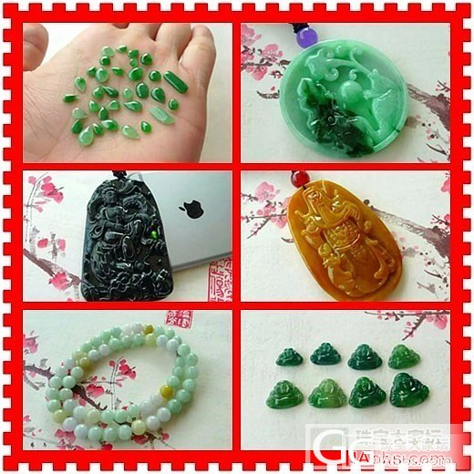 冰种满绿佛公镶件一手 【价格】-23..._珠宝