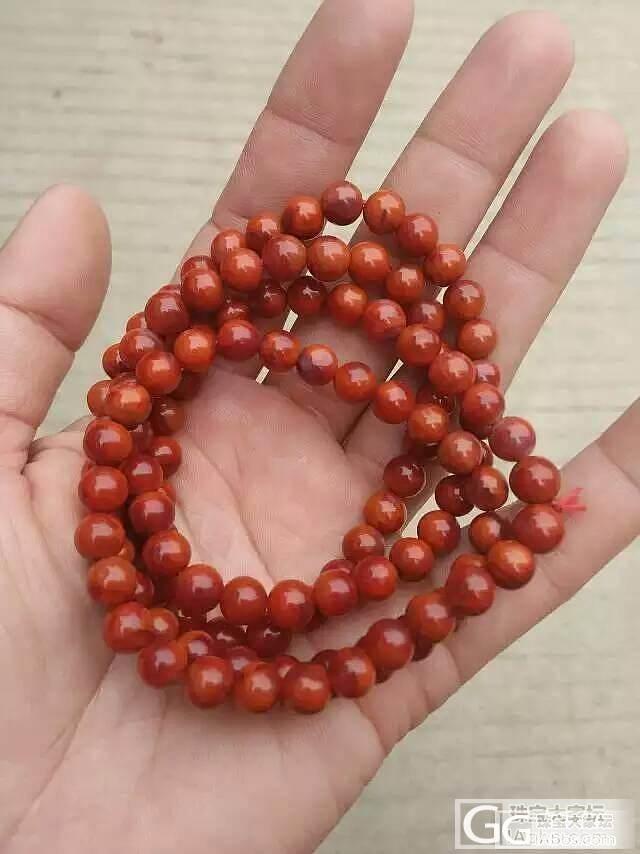 求7MM南红佛珠 半成品也可以 性价..._传统玉石
