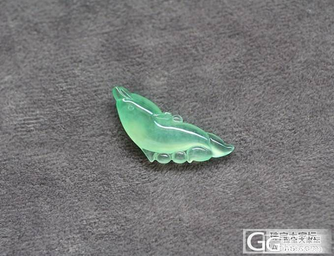 原创:老种甜绿起荧光海豚_翡翠