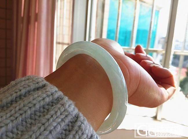 年前入手的一个冰种晴水胖圆条手镯,发..._翡翠