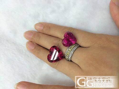 [碧玺] 美克拉 心形卢比来美艳红碧..._宝石