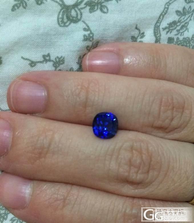珠宝展购入卡兰两克拉无烧,大家帮忙看..._蓝宝石
