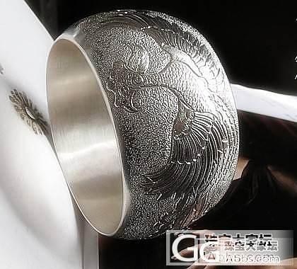 福饰汇巨无霸纯银另类新风格錾花手镯超..._银