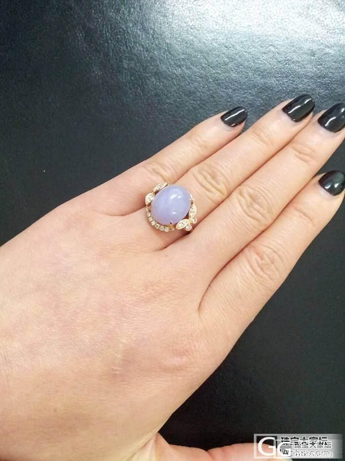今天戴的紫戒指_翡翠