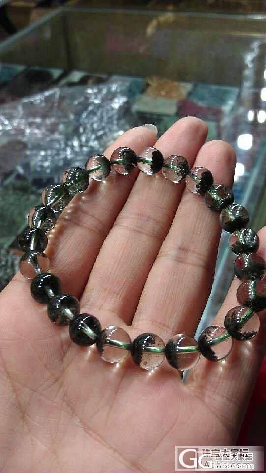 新手刚入了一款绿幽灵手串,求大神鉴定质量跟价位!_宝石